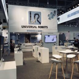 Universal Robots messestand